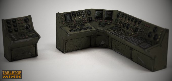 control panel scifi 28mm switches computer console retro terminal magnetic stl mesh dnd 3dprint mini miniature