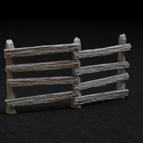 log wood barrier fence obstacle 28mm medieval stl mesh dnd 3dprint mini miniature