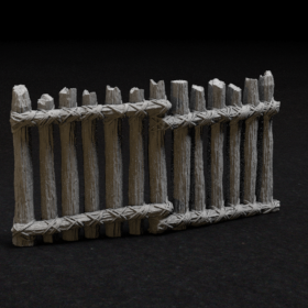 log wood barrier fence 28mm medieval stl mesh dnd 3dprint mini miniature