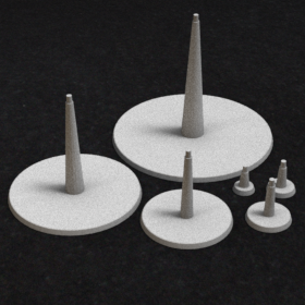 base round stand support stl mesh dnd 3dprint mini miniature