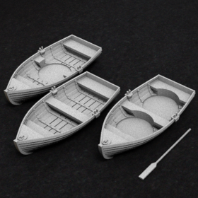wood wooden boat row stl mesh dnd 3dprint mini miniature