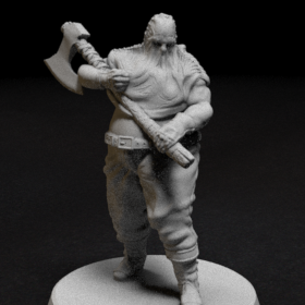 mini 28mm character executioner axe hood hooded stl mesh dnd 3dprint mini miniature
