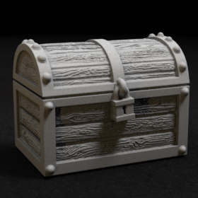 chest treasure lockbox box container stl mesh dnd 3dprint mini miniature