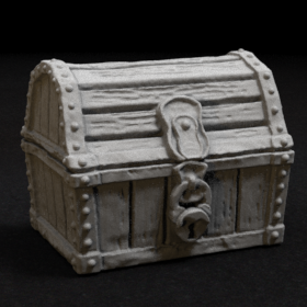 wood wooden chest treasure pirate stl mesh dnd 3dprint mini miniature
