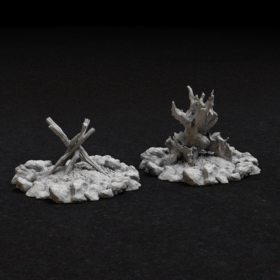fire camp hearth encampment stl mesh dnd 3dprint mini miniature