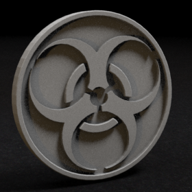 token coin infect infectious stl mesh dnd 3dprint mini miniature
