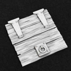 wooden door hatch part trap stl mesh dnd 3dprint mini miniature