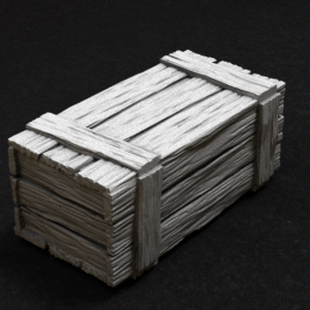 wooden box container crate large stl mesh dnd 3dprint mini miniature