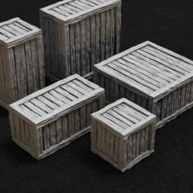 wood wooden box container crate stl mesh dnd 3dprint mini miniature