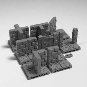 stone dungeon modular map tile tiles wall catacombs walls openlock  stl mesh dnd 3dprint mini miniature