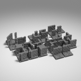 stone dungeon modular tile tiles catacomb wall catacombs walls  stl mesh dnd 3dprint mini miniature