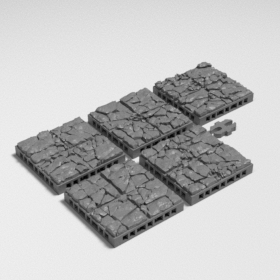 stone dungeon dnd modular map tile tiles catacomb base dungeon dnd modular map tile jigsaw connectable stl mesh dnd 3dprint mini miniature