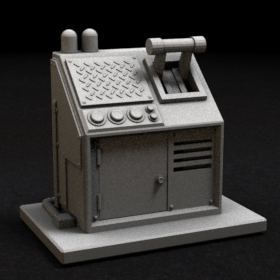 door switch lever control panel scifi zombicide terminal sci fi stl mesh dnd 3dprint mini miniature