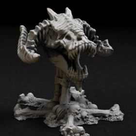 dragon skull skeleton stl mesh dnd 3dprint mini miniature