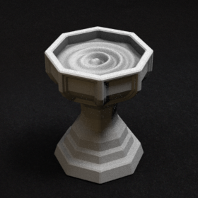 water font holy fountain bowl mana health bath stl mesh dnd 3dprint mini miniature
