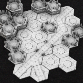 hex terrain modular battletech map grass rough mech mechwarrior stl mesh dnd 3dprint mini miniature