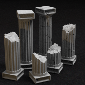 pillar greek ancient pole stl mesh dnd 3dprint mini miniature