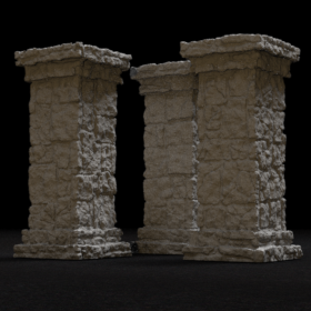 stone rock dungeon pillar medieval stl mesh dnd 3dprint mini miniature