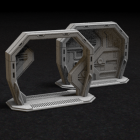 door blast space ship scifi sci fi stl mesh dnd 3dprint mini miniature