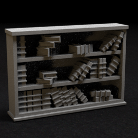 book shelf shelve tome furniture stl mesh dnd 3dprint mini miniature