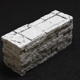 barrier platform stone old wall brick stl mesh dnd 3dprint mini miniature