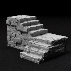 stone dungeon stairs catacomb catacombs step steps stair brick stl mesh dnd 3dprint mini miniature