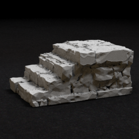 platform stone stairs step steps stair brick stl mesh dnd 3dprint mini miniature