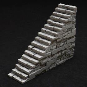 stone rock dungeon old stairs stl mesh dnd 3dprint mini miniature