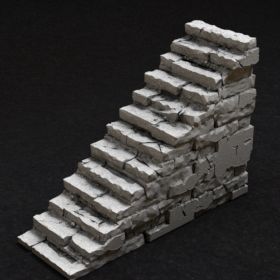 stone dungeon old stairs stl mesh dnd 3dprint mini miniature