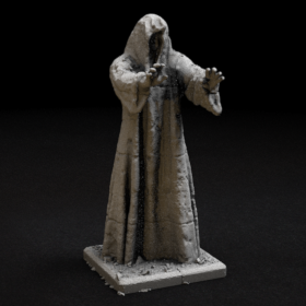 stone rock monument hood hooded statue figure stl mesh dnd 3dprint mini miniature