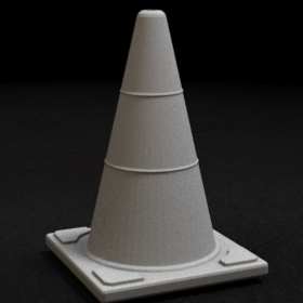 road modern traffic cone witches hat street roadwork stl mesh dnd 3dprint mini miniature
