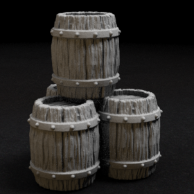 barrel keg stack beer tavern supplies stock stl mesh dnd 3dprint mini miniature