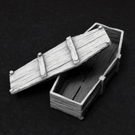 cemetery box coffin casket dead undead stl mesh dnd 3dprint mini miniature