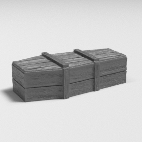 wood grave box coffin casket dead funeral stl mesh dnd 3dprint mini miniature