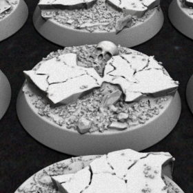 base rocks rock warhammer 32mm 40k bases earth rocky stl mesh dnd 3dprint mini miniature