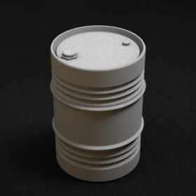 metal barrel modern steel oil drum stl mesh dnd 3dprint mini miniature