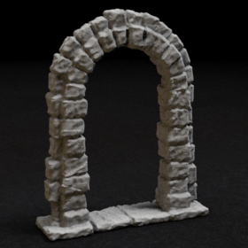 stone rock door arch archway stl mesh dnd 3dprint mini miniature