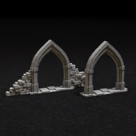stone door arch archway gothic entry entrance stl mesh dnd 3dprint mini miniature