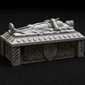 tomb coffin dead undead sarcophagus sarcophagi king barov castle ravenloft stl mesh dnd 3dprint mini miniature
