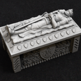 tomb burial coffin dead undead sarcophagus sarcophagi king barov chamber stl mesh dnd 3dprint mini miniature