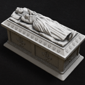 stone grave tomb lady girl casket sarcophagus sarcophagi queen female stl mesh dnd 3dprint mini miniature