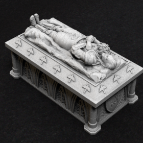 tomb burial coffin sarcophagus sarcophagi barov ravenloft vampire strahd von stl mesh dnd 3dprint mini miniature