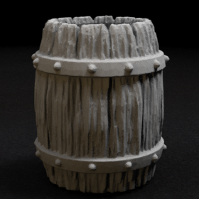 wooden barrel old keg stl mesh dnd 3dprint mini miniature